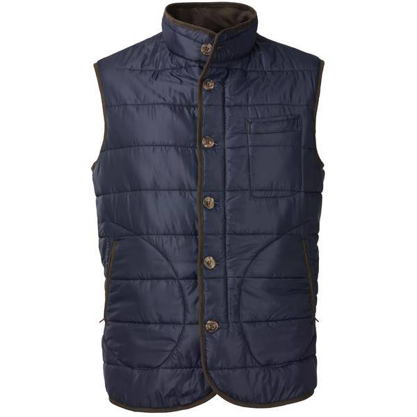 Laksen Donnington Quilted Vest Navy M